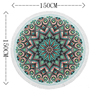 Round Beach Towel Tassel Bohemian Flamingo Large Blanket Picnic Yoga Mat travel Boho Tablecloth toalla de playa