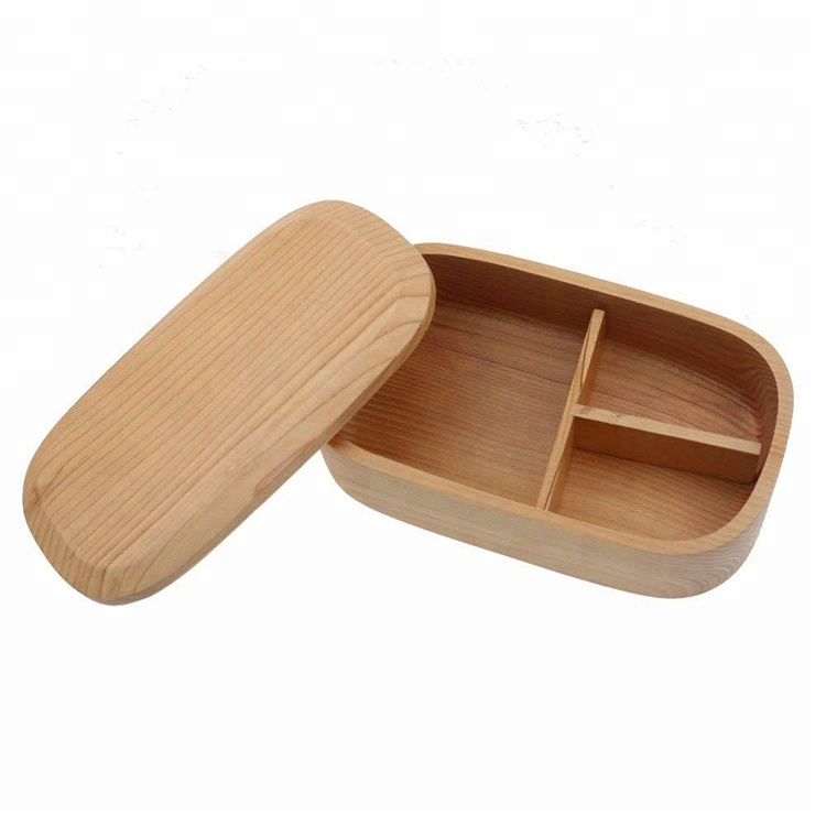Traditional Natural Wooden Lunch Box Bento Wood Japan