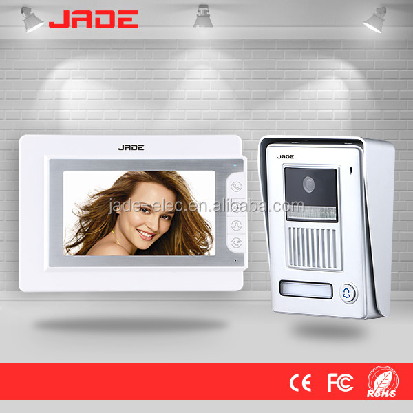 JADE 7inch color video door phone 4 wire LCD videa door phone kit for Villa