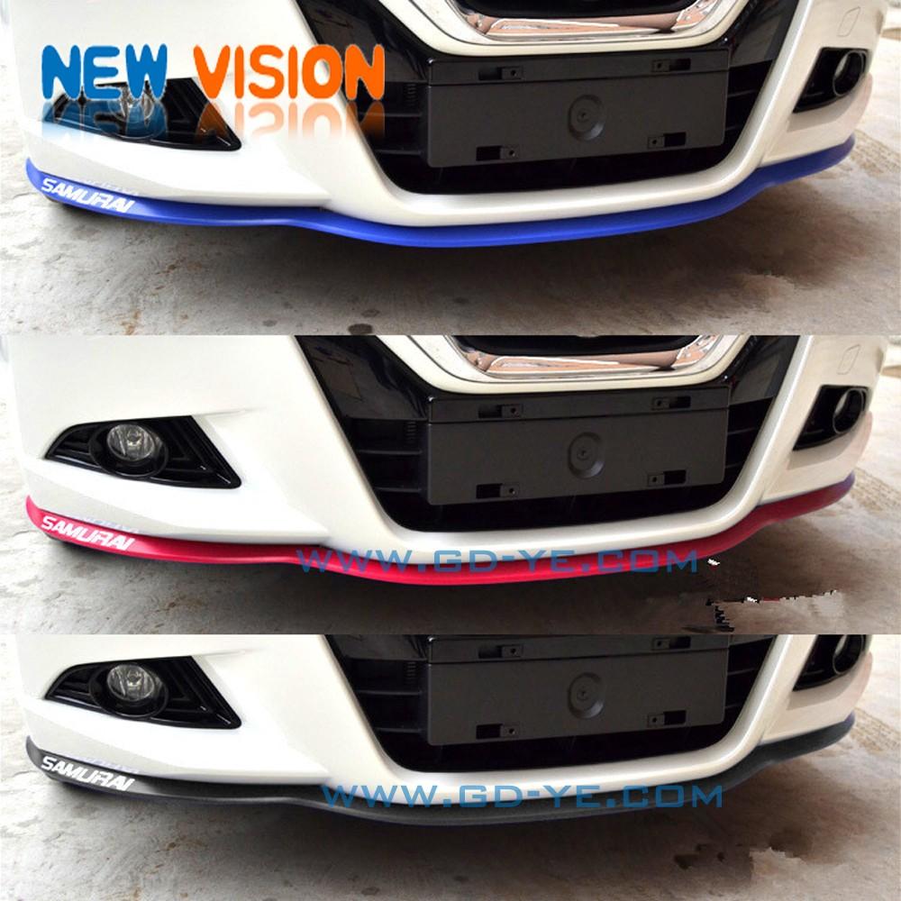 Carbon fiber trunk lip spoiler or roof spoiler body kit trim sticker