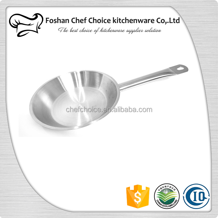 3 layers Encapsulated Bottom 201 Stainless Steel Pan Frying Fish Catering Frying Pan Non Stick Hotel Electric Grill Frying Pan