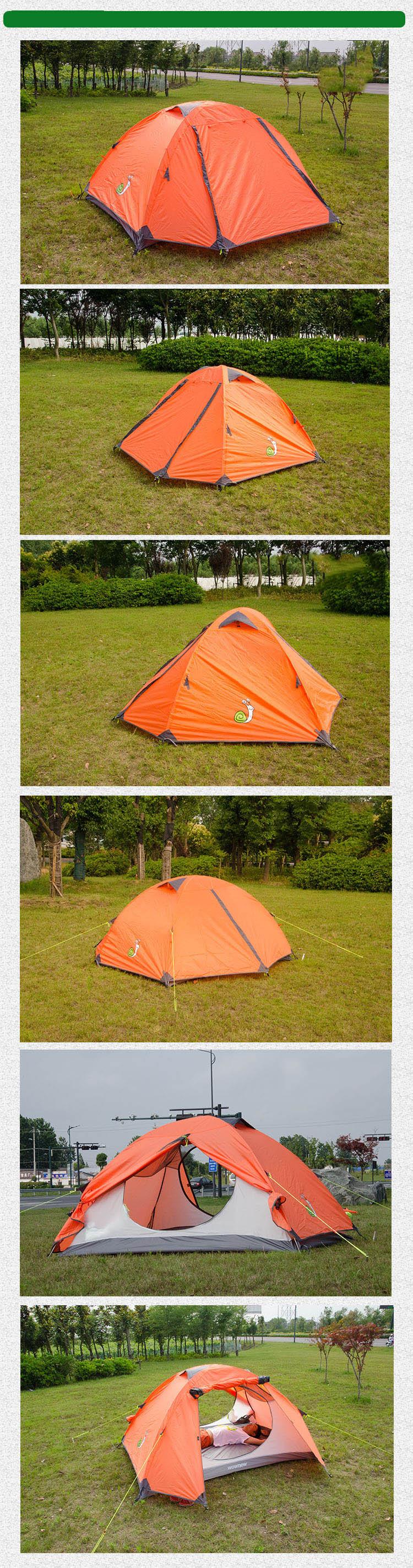 New Camping Tent Aluminum Rod 4 Person Tent Easy Setup ...