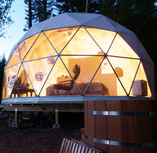 Easy assembled any size transparent glamping geodesic dome house tent for sale
