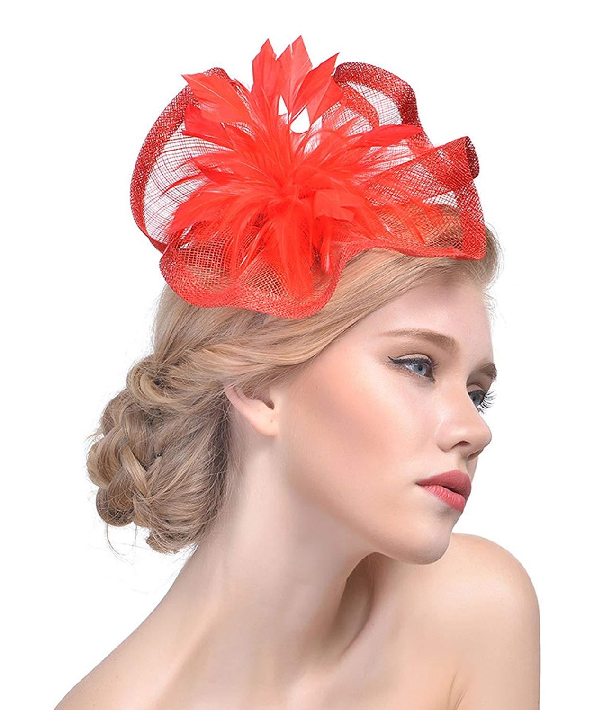 21ecb118e1182 Get Quotations · 30th floor Fascinator Hats Wedding Hats Pillbox Hat