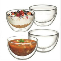 Microwave and dishwasher safe High borosilicate glass bowl perfect for serving ice cream, fruit salad, soup