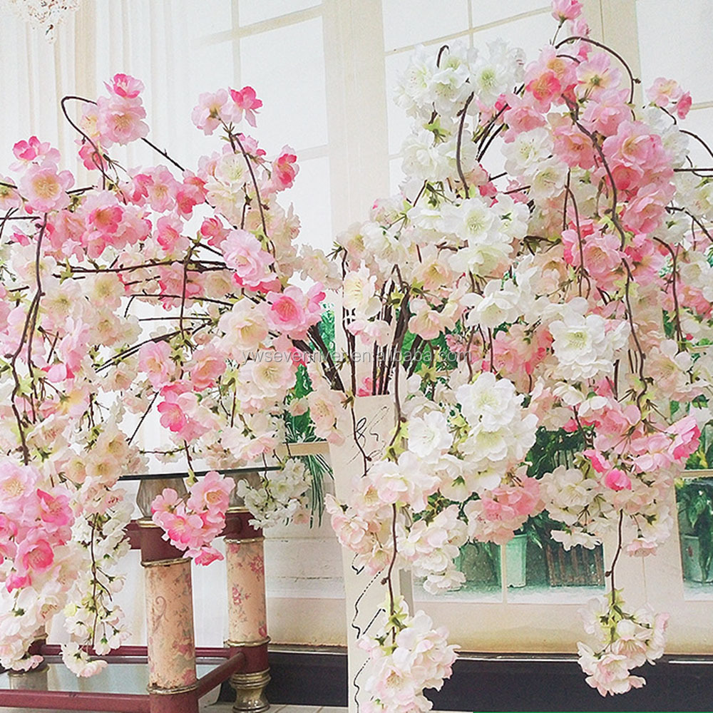 Wedding 4 fork long cherry blossom branch Artificial cherry blossoms