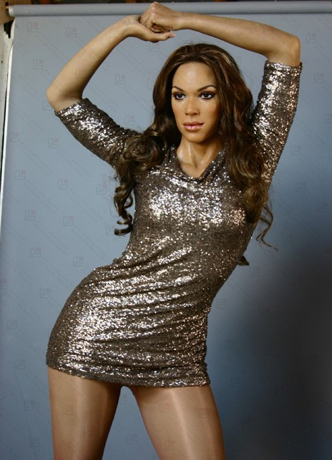 Artificial Pure Handmade life size statues of Pop Star Beyonce wax statue for Displaying