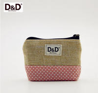 D&D Profesional Portable Small Hemp Zipper Bag Sewing Set Sewing Kit For Travel & Home With 31pcs Sewing accessories