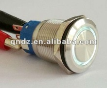 QN19-C1 (19mm)ring illuminated metal stainless steel push button switch