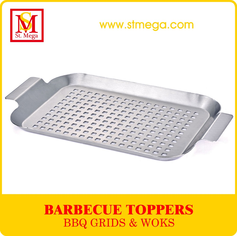 Small Stainless Steel Rectangular BBQ Grill Grid