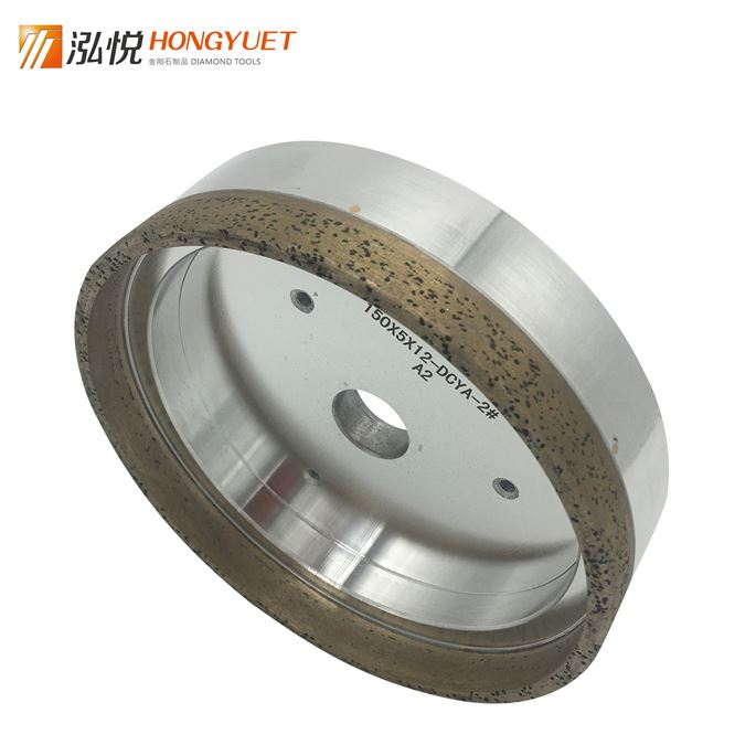 Manufacturers in china cup-shaped continuous glass machine aluminium base diamond grinding wheel 1A1