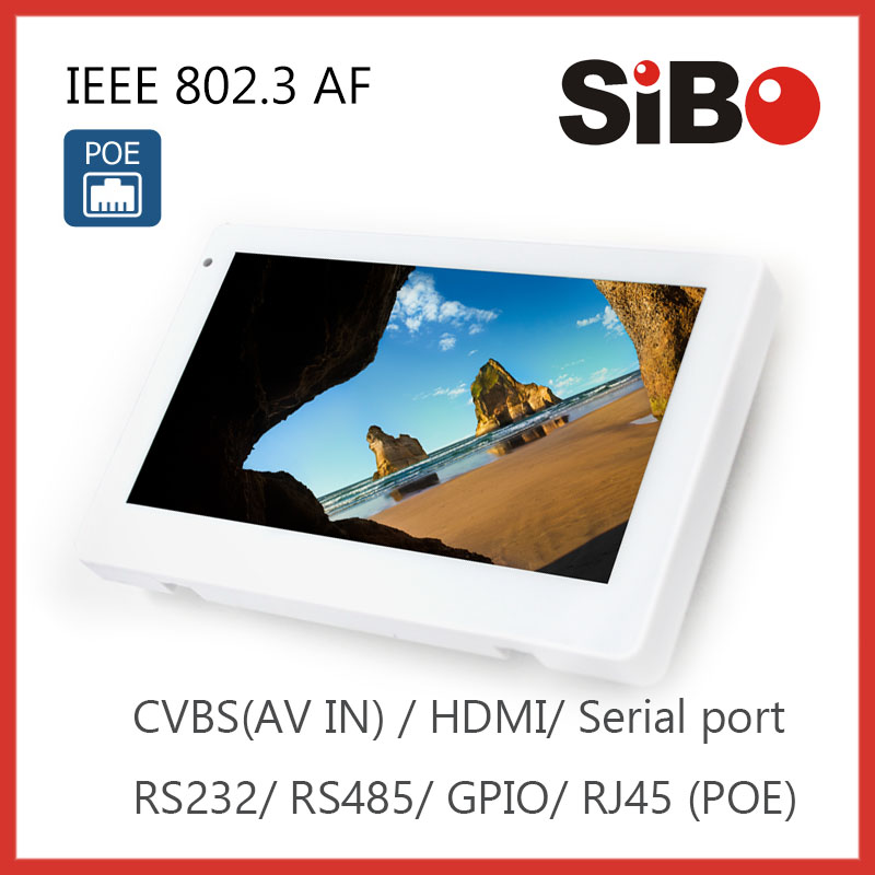industrial android poe tablet wall embeded terminal operator support AV input