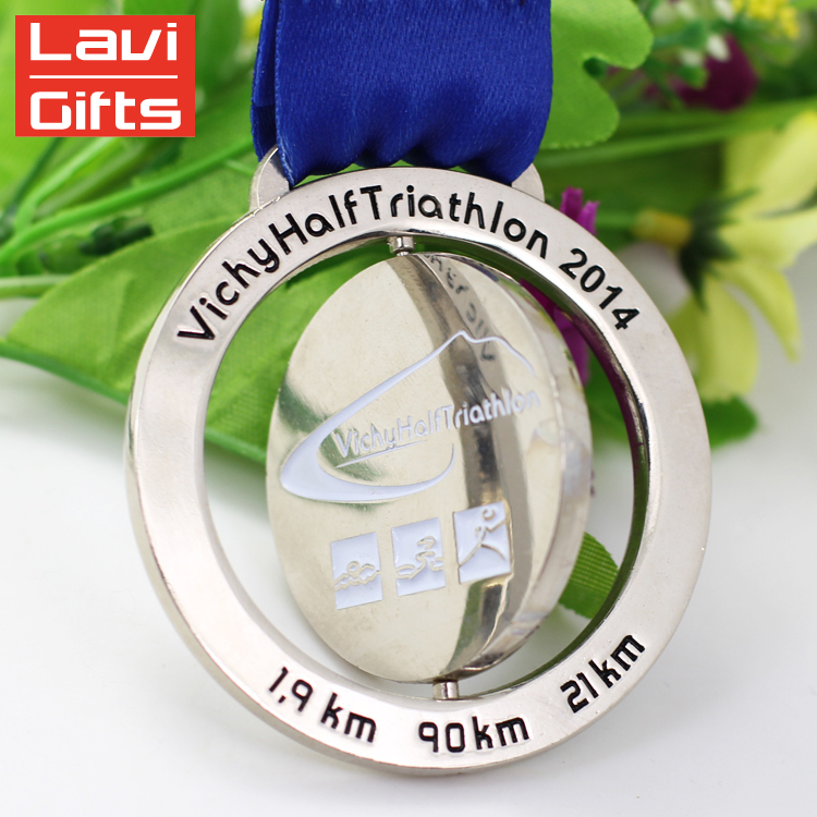 Crafts Manufacturer Custom Round Diecasting Award Beautiful Rotatable Medal