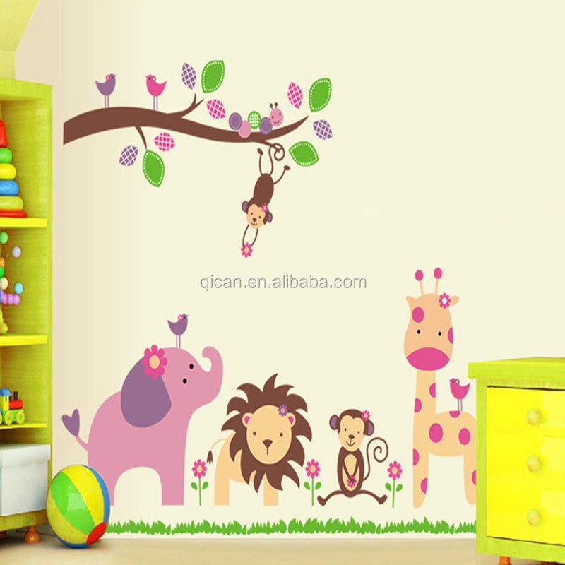 Venta al por mayor vinilos decorativos pared infantiles-Compre ...