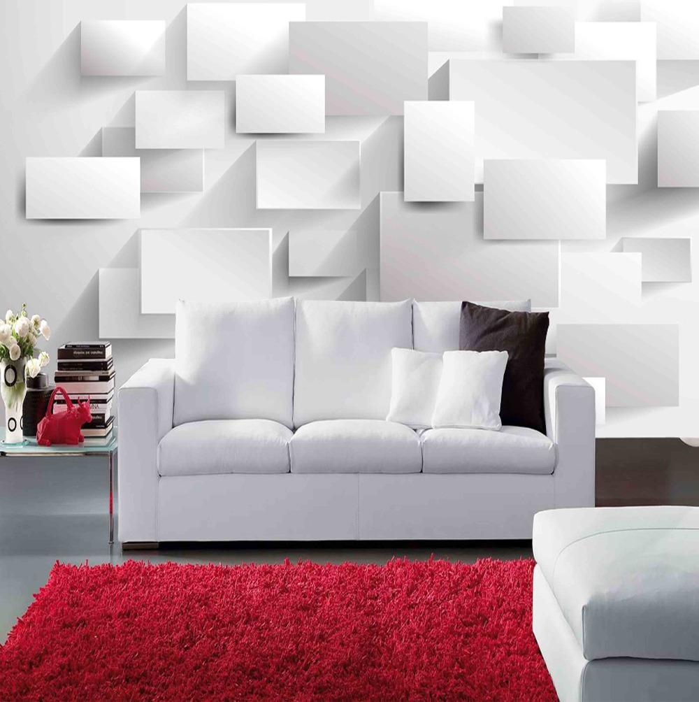 Voorkeur Wallpaper Woonkamer Houten Wit #BM06
