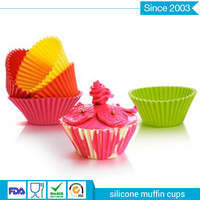Custom made LFGB Silicone Baking Cups/ Cupcake Liners/ Muffin Cake Molds