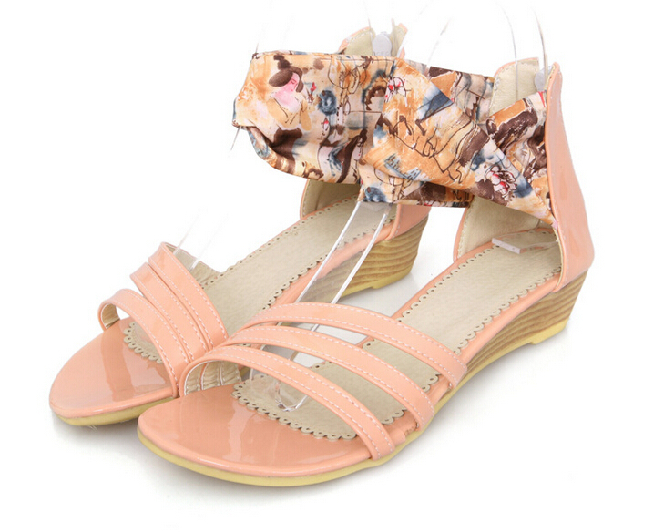 2014 New Design Fashion Flat Summer Sandals 2014 Roman Wedge ...