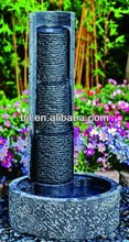 stone fountain outdoor water feature rock landscaping