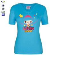 Custom Cotton Pattern T Shirt Screen Printing For Women
