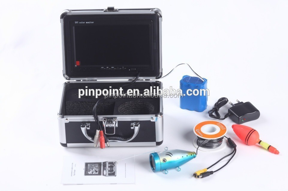 Pinpoint 7 inch underwater submarine fishing under water camera with cable