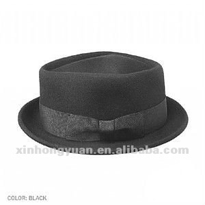 winter fashion 100% wool flat trilby hat and cap