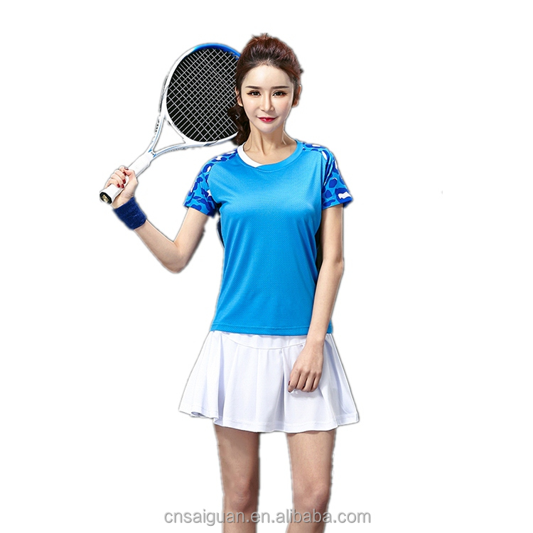 2017 Badminton wear sets women jerseys , female tennis sets ,table Tennis shirt