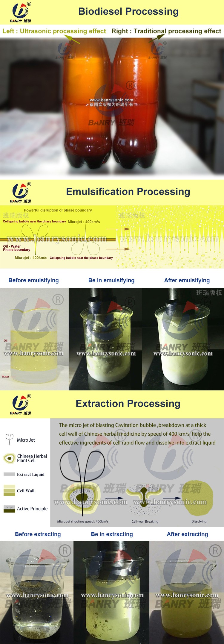 Hangzhou BANRY Ultrasonic Chinese Medicines Extraction Equipment