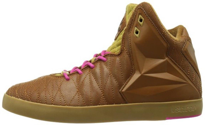 Nike Lebron Xi NSW Lifestyle, Size 8 Hazelnut/flat Gold/pink Foil 616766 200