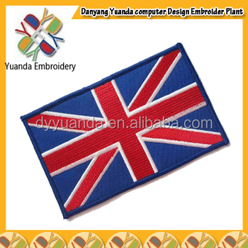 Custom Embroidery Emblem Applique Badges And Country Flag Patch ...