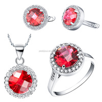 Top Quality AAA Zircon Jewelry Sets Necklace + Earring + Ring