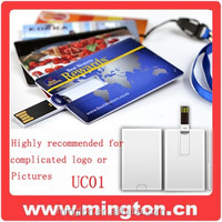 Promotion credit card usb flash drive 16gb
