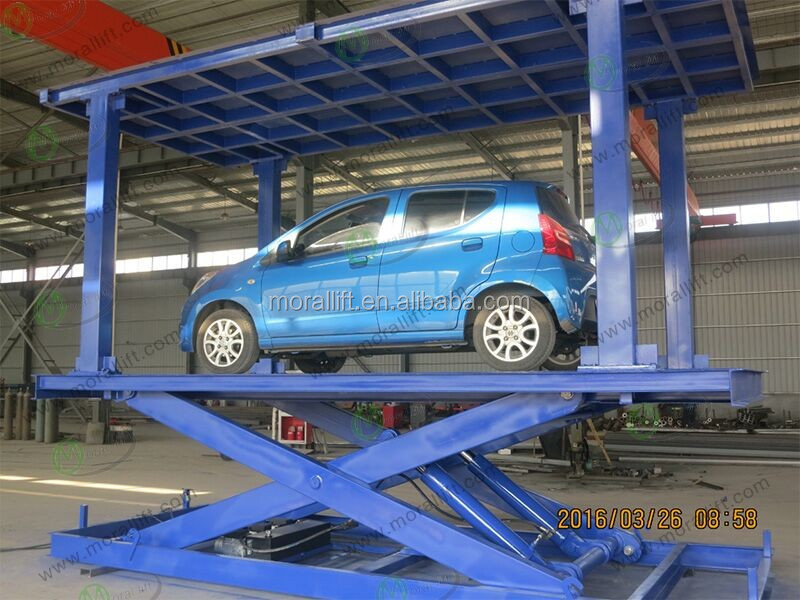 Underground Double Deck Car Lift Platform with CE
