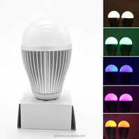 Factory Direct Sale High Quality 90lm/w new wifi controlled led color smart light bulb e27 rgbw