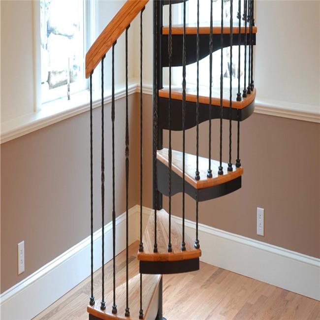 Hotel Interior Decorate Solid Wood Spiral Staircase Duplex House Spiral  Stairs