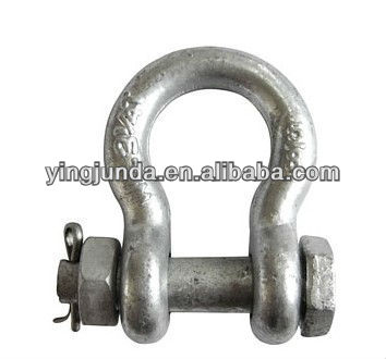 high polished U.S. bolt type anchor shackle marine hardware bow shackle price pin