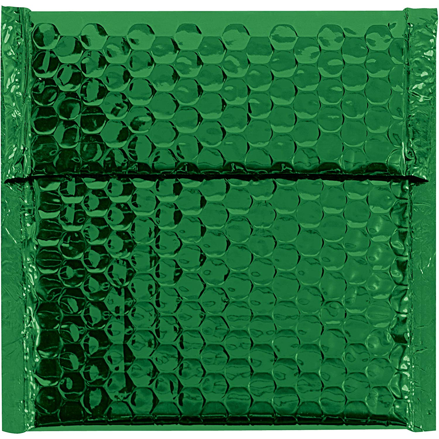 "Boxes Fast BFGBM0706G Glamour Bubble Mailers, 7"" x 6 3/4"", Green (Pack of 72)"