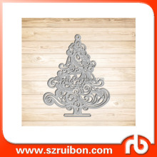 Kerstboom Stansmessen Stencil <span class=keywords><strong>Metalen</strong></span> Mould voor DIY Scrapbook Album Papier Kaart