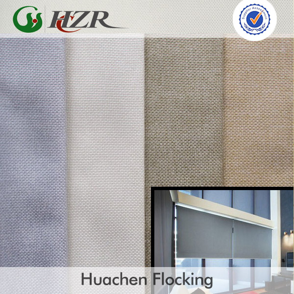 PA foam coated polyester linen cloth blackout terylene roller blinds fabric