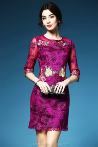 hot sale banquet middle-aged fashion mother of the bride lace dress