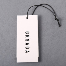 2018 Latest hangtag models white clothing paper hang tag for selling