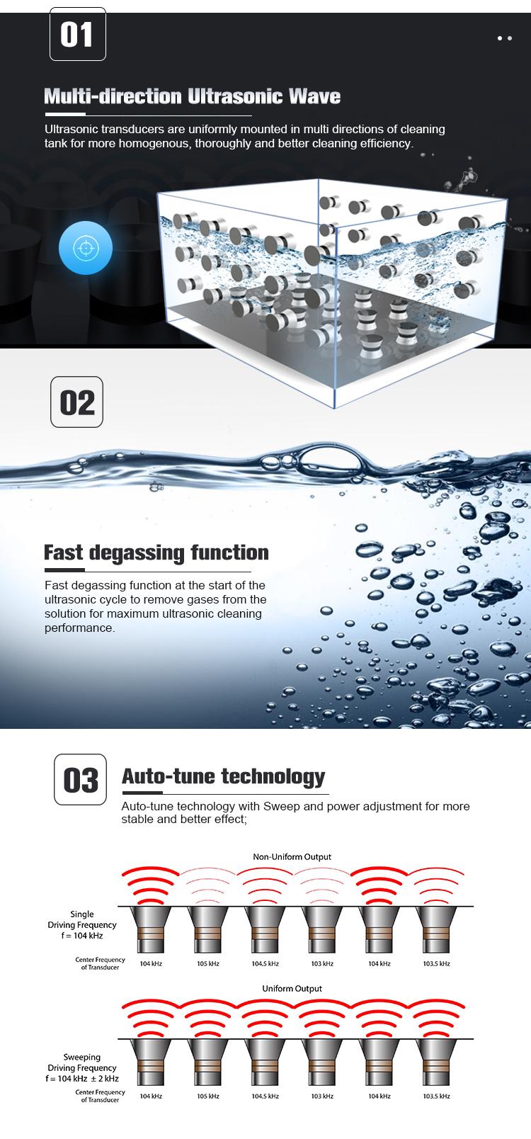KR ชุดอุตสาหกรรมทำความสะอาดอัลตราโซนิก