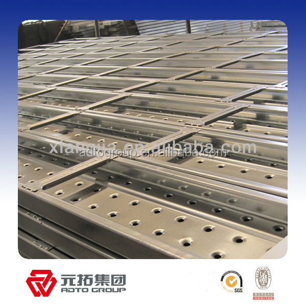 Q195 United States Standard 6' 1.5mm Steel Planks for Ring Lock System Scaffolding