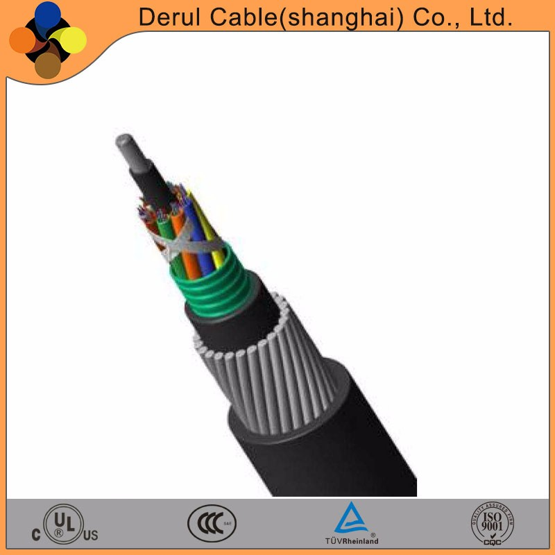 High voltage pilot power cable with galvanized steel wire armour