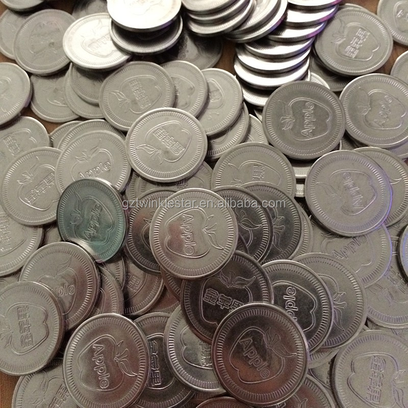 factory OEM cheap printed custom made tokens coin arcade game machine token
