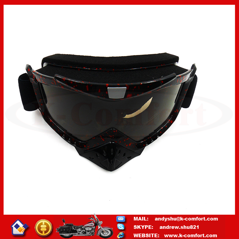 L1KC26 Factory supply high quality Reflective Black motorcycle goggles for motorcycle