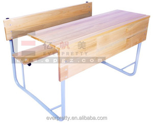 China latest design wooden school furniture old wooden school chairs desks for sale