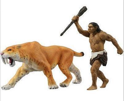 Smilodon Tiger lion Polar Bear Cheetah Eagle Classic Toys For Boys Ferocious Beast Movable Animal Small
