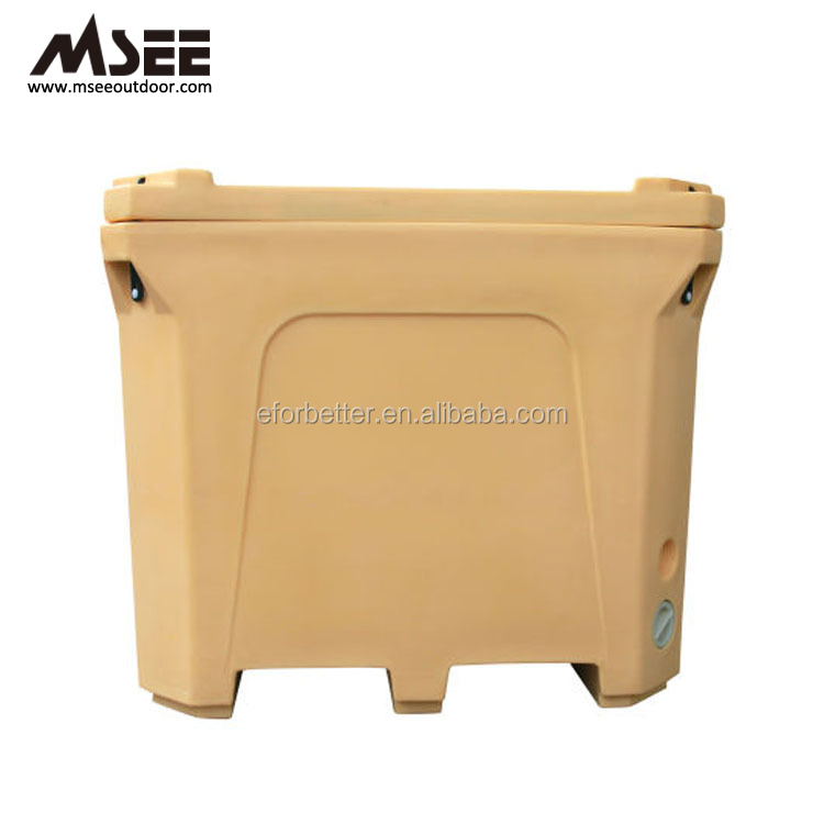 660L 1000L Frozen Plastic Ice Box Fish Packing Boxes