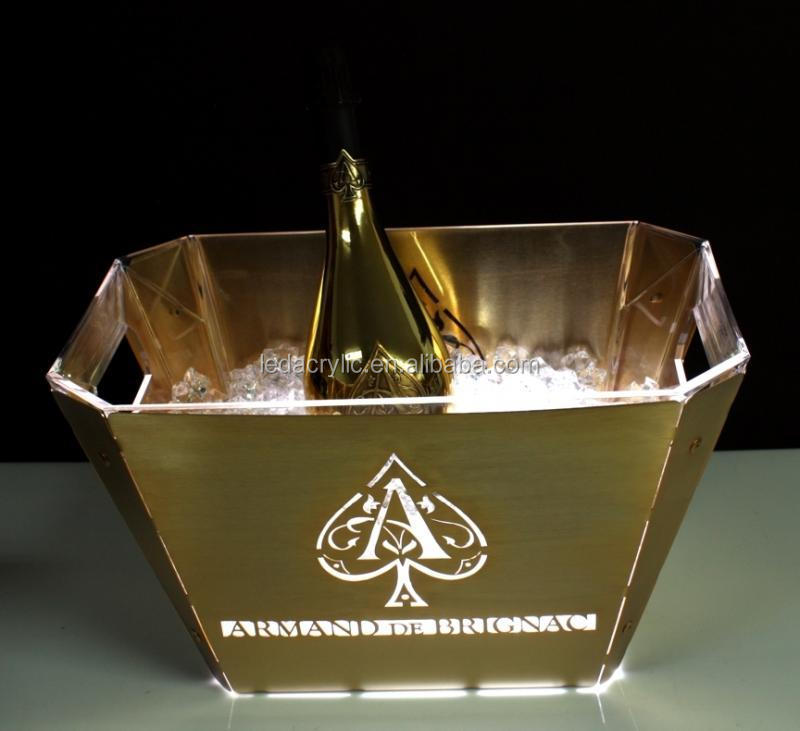 Ledpos armand de brignac champagne ice bucket buy for Where can i buy belaire rose champagne