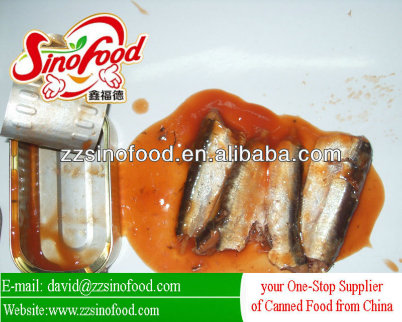100% Fresh Food Canned Sardines in tomato sauce